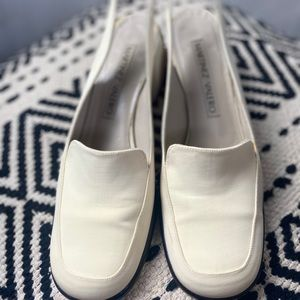MARTINEZ ivory sling backs.